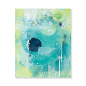 Ricochet  |  Blue Green Abstract Painting