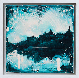 Castles in the Sky Painting Turquoise 20cm x 20cm