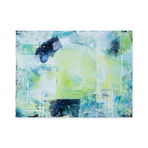 Rhapsody Blue Green Abstract Painting