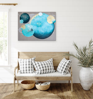 Lagoonside Moon Painting on Canvas 60cm x 80m