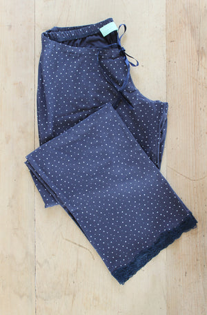Speckled Egg Printed Maternity PJ Bottoms in Navy