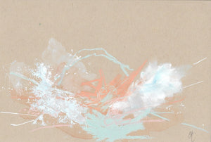 Cloudburst 13 Together Small Abstract Painting