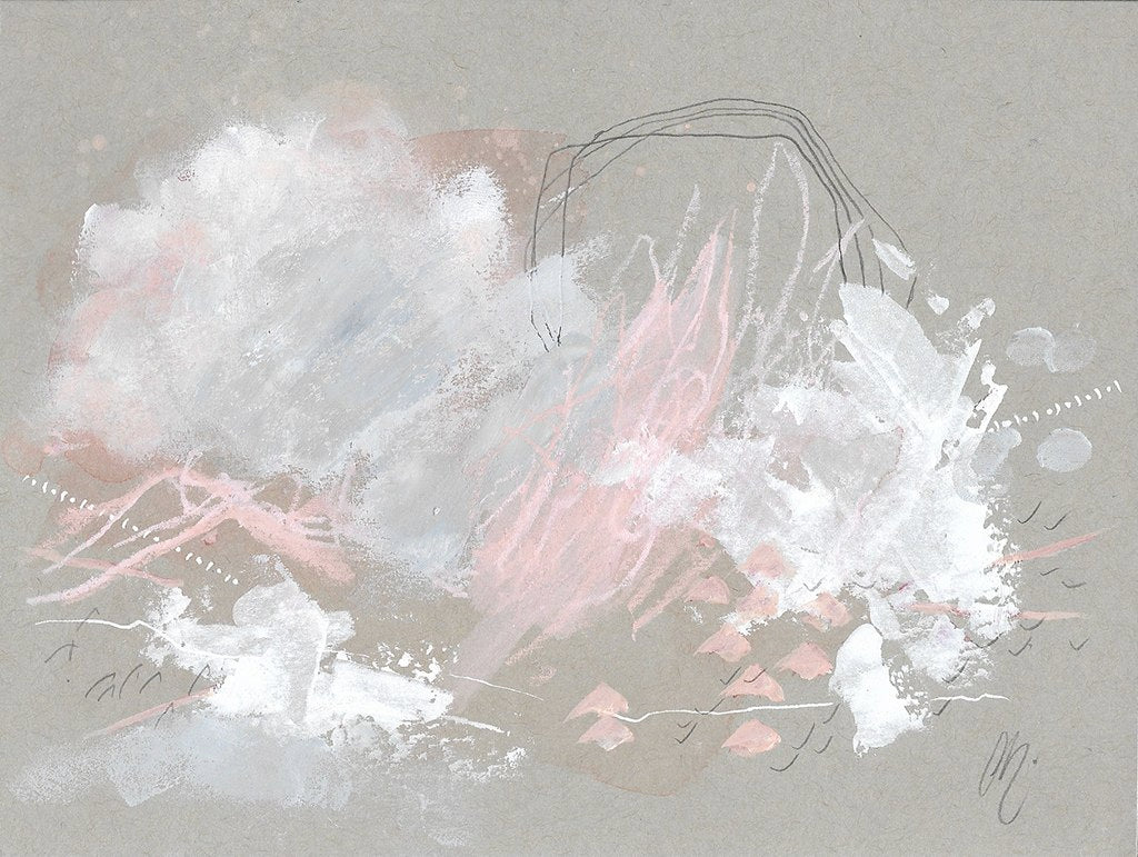 Cloudburst 14 In You I Trust #3 Small Abstract Painting
