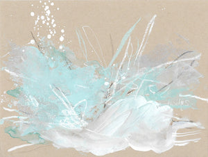 "Cloudburst 25 The Way I Love You 3 Small Abstract 6""x8"""