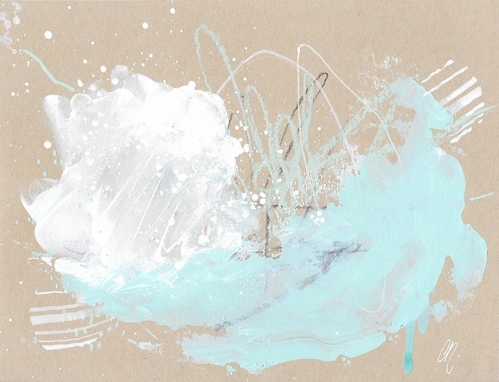 Cloudburst 26 Small Original Abstract Painting Sketch