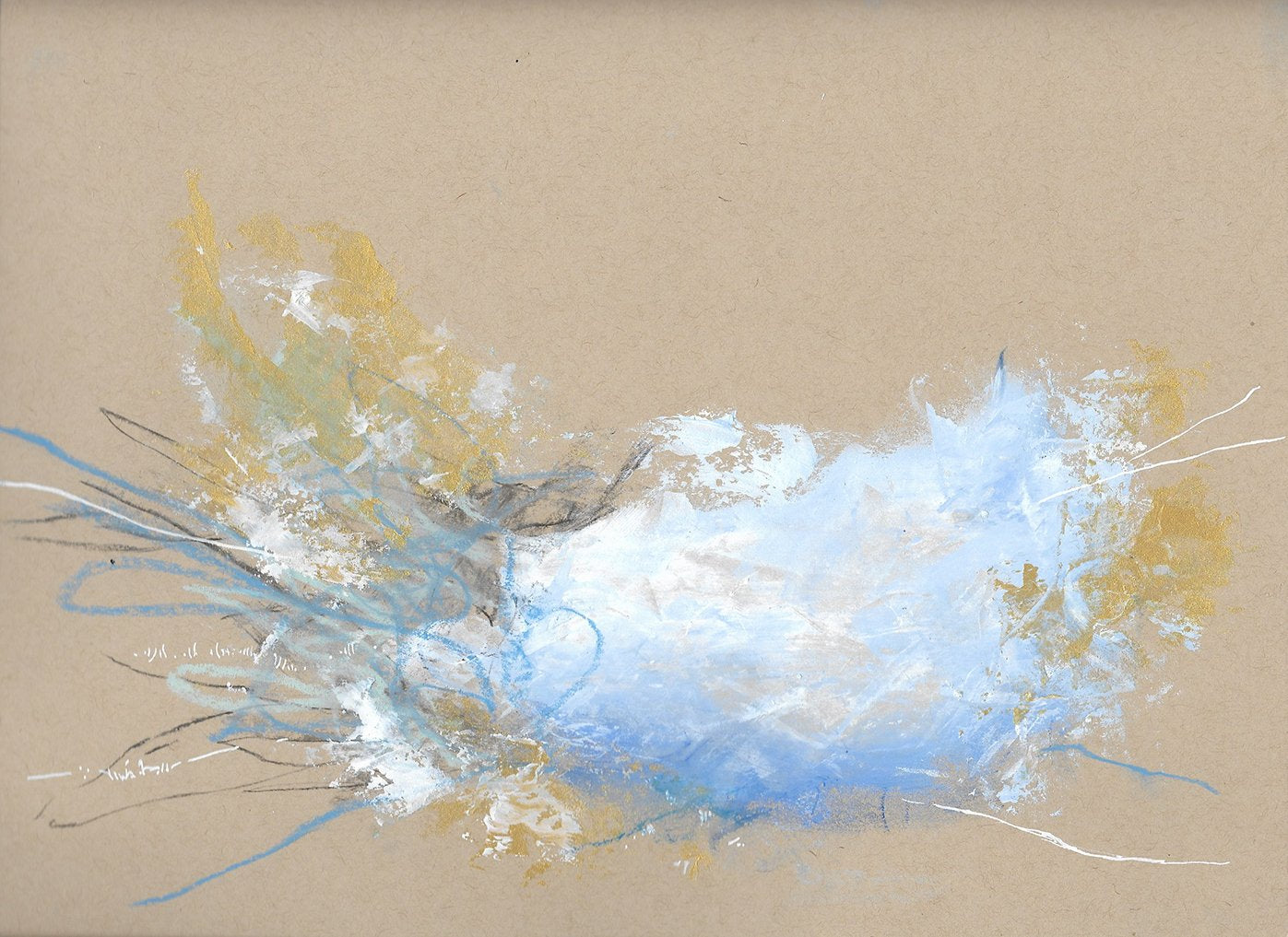 Cloudburst 4 Small Original Abstract Painting Sketch