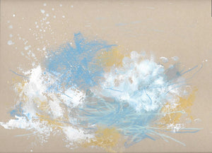 Cloudburst 5 Small Original Painting 9x12 inches