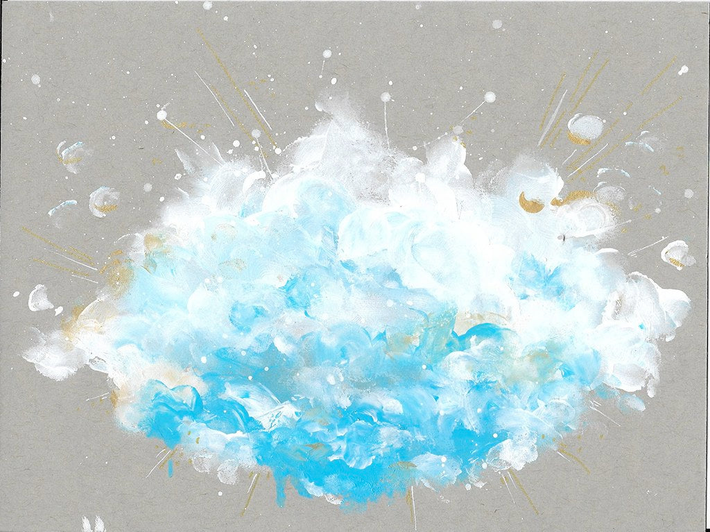 Cloudburst 2 Small Abstract 6x8 inches