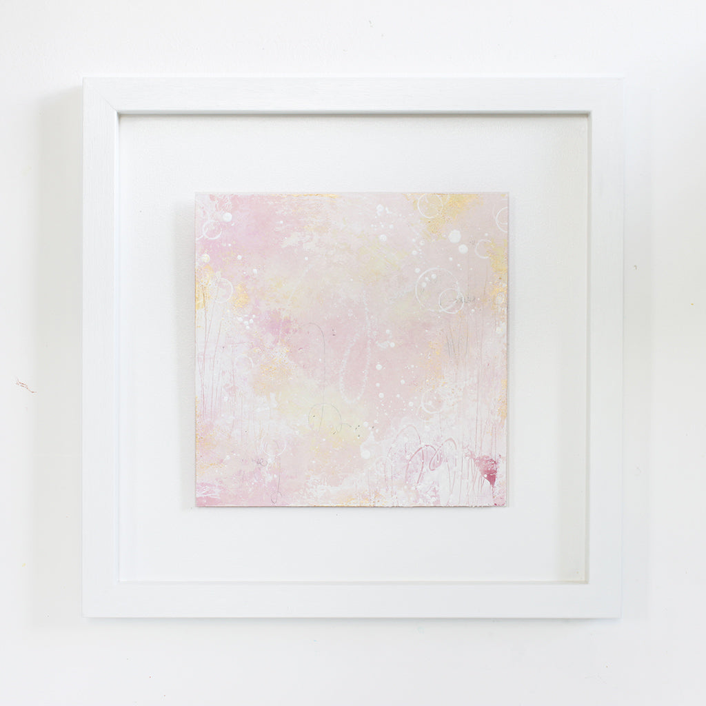 Glimmer Framed Abstract Painting 14"