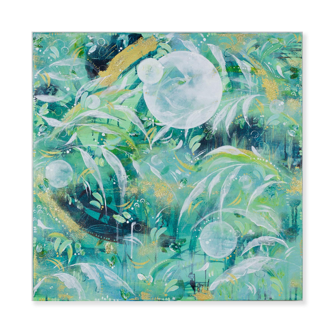 Kelpforest and Moonbeams| Kelp Forest Painting 60cm x 60cm
