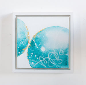 Halcyon Days Moon Painting Turquoise 20cm x 20cm