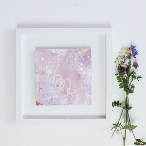 "Entranced Framed Abstract Painting 35.5cm x 35.5cm | 14"" sq"