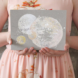 "Sunblush Moon Painting 6"" x 8"""