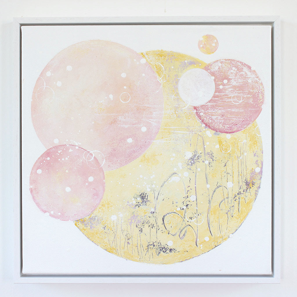 Sugar Moon Framed Moon Painting on Canvas 40cm x 40cm