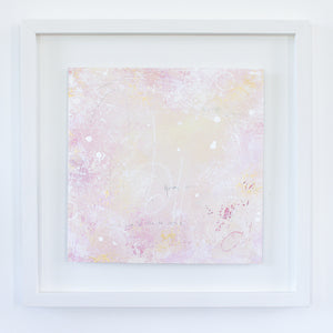 Stardust Framed Abstract Painting 44cm x 44cm
