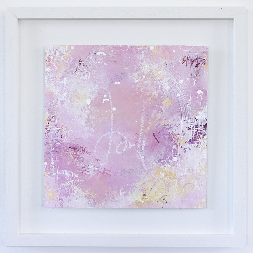 Cherished Framed Abstract Painting 44cm x 44cm