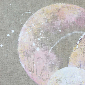 Harmony Moon Painting on Canvas 30cm x 40cm