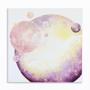 "Enchanted Moon Painting 60cm sq 24"" sq"