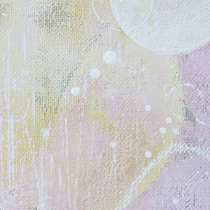 Moonblush Moon Painting 30cm x 40cm on Raw Linen Canvas