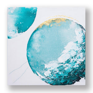 Surfside Moonbathing Abstract Painting 50cm x 50cm