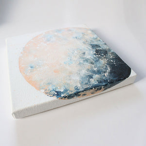 Moonrise Moon Acrylic Painting 20cm by 20cm