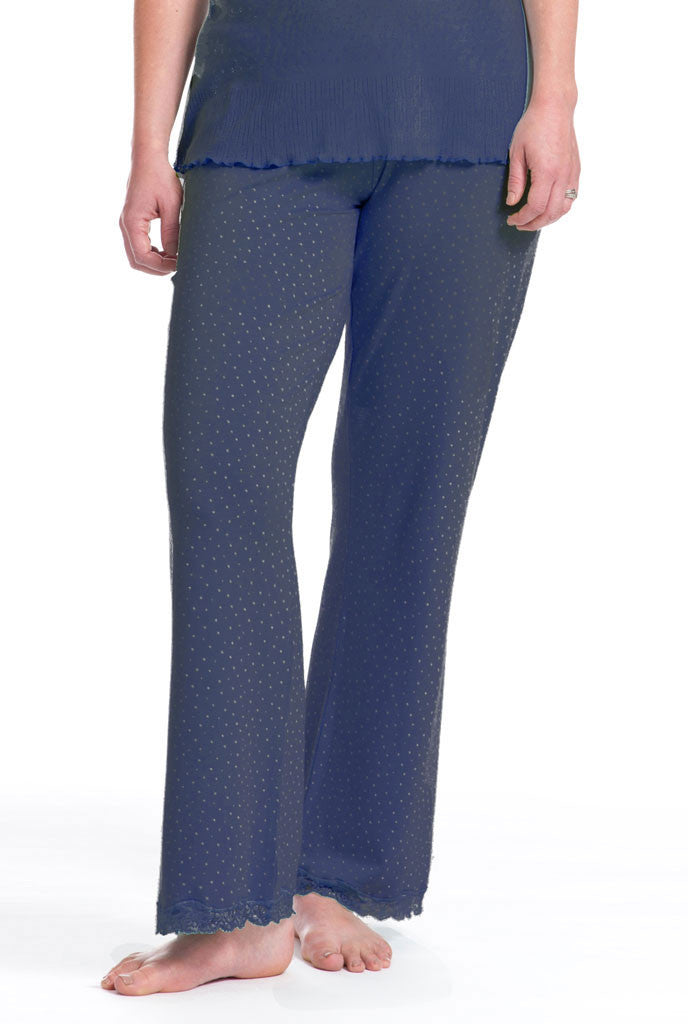 Navy Speckled Egg PJ Bottom