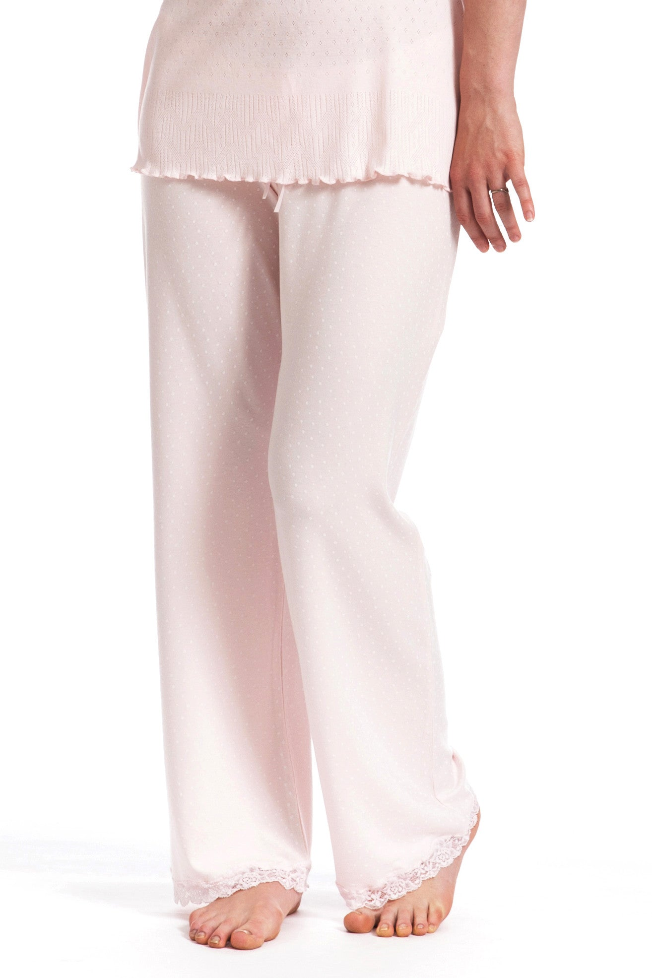 Maternity Pyjama Bottoms Speckled Blush Pink