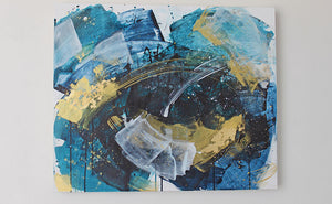 Waves 4 Expanse Abstract Painting 50cm x 60cm