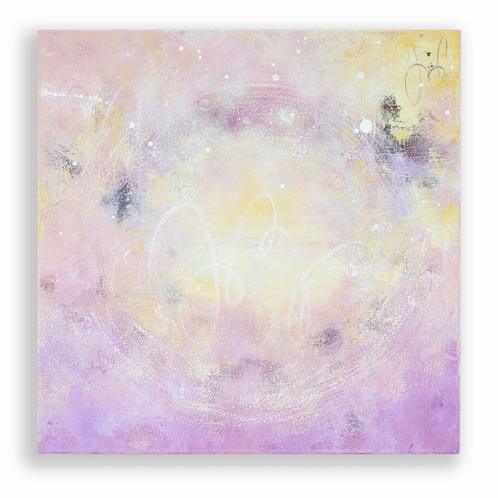 "Transcendence Abstract Painting 60cm sq 24"" sq"
