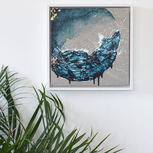 Achelois Moon Painting 33cm sq framed