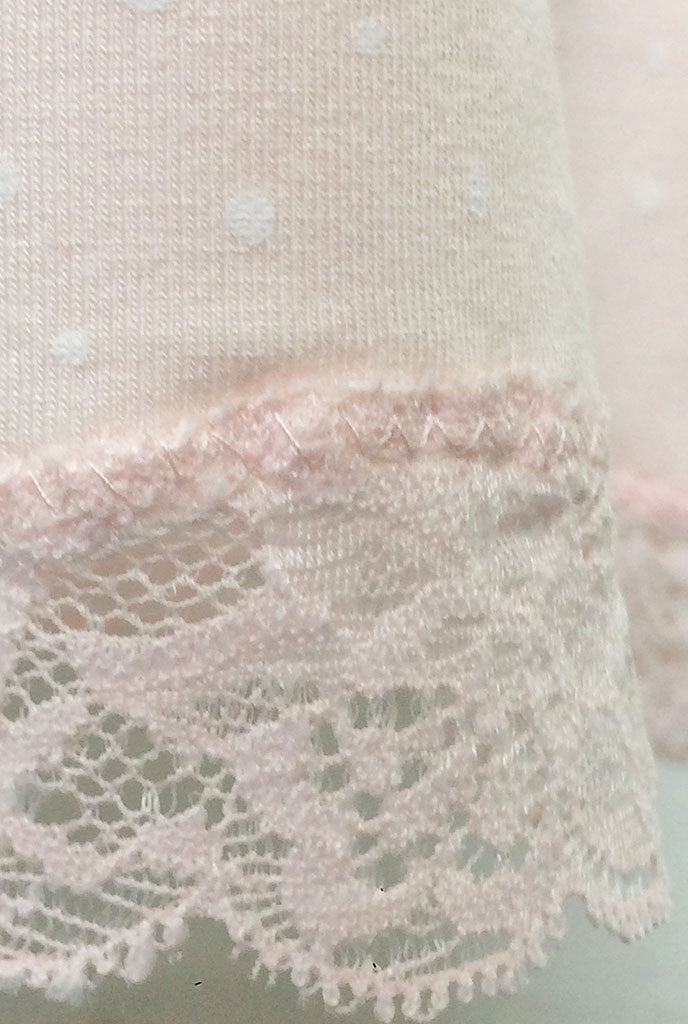 blush pink lace detail