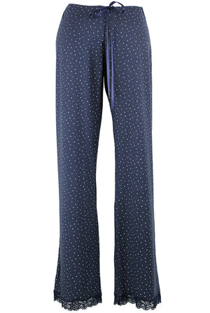 navy speckled egg pj trousers