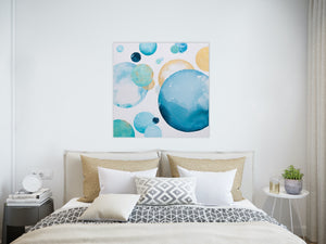 Exhalation Moonbathing Abstract Painting 90cm x 90cm
