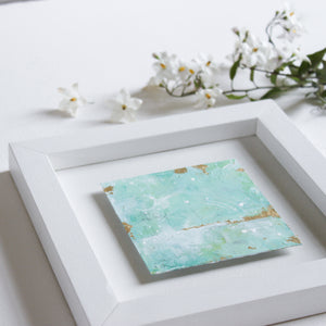 Shifting Sands | Green Abstract Landscape Mini Painting 20cm