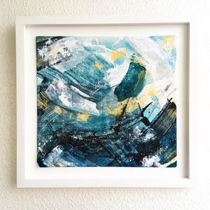Waves 7 Resonance Abstract Painting 36cm x 35cm