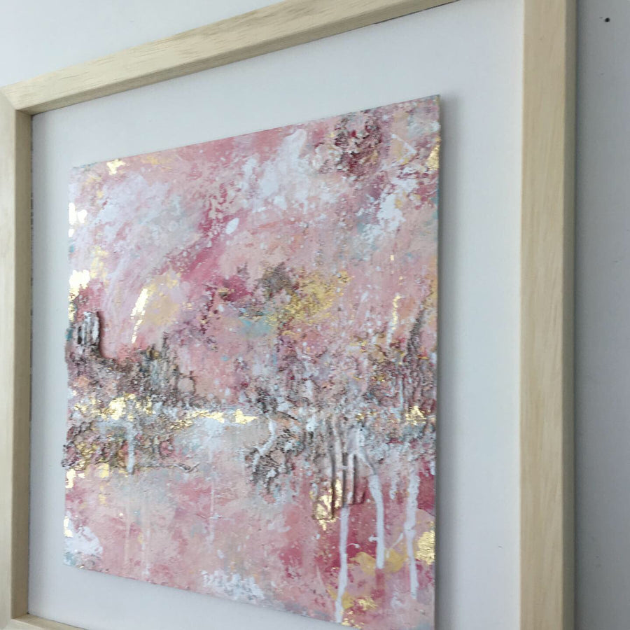 Tender Light abstract painting in pinks & neutrals