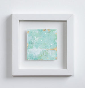 Shifting Sands Abstract painting Holistic Green 20cm