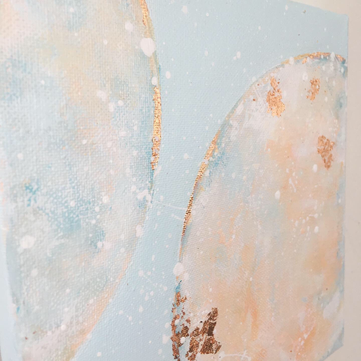 Moonscape #117 | Mer Lunaires Series | Abstract painting moon sky blue peach