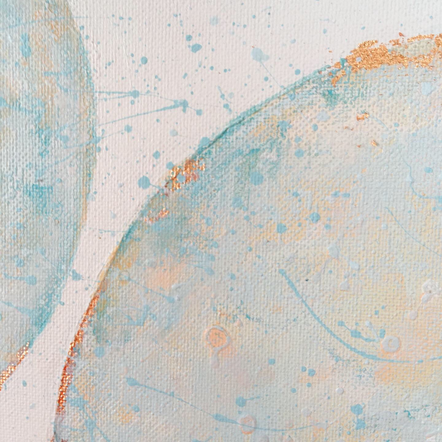Moonscape #118 | Mer Lunaires Series | Abstract painting moon sky blue peach