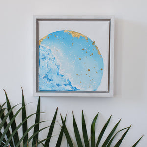 Surfacing | Mer Lunaires Series | Abstract painting blue moon