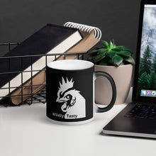 Load image into Gallery viewer, The Wildly Tasty Coffee Black Magic Mug- (Pour your hot beverage in to reveal the WTC Chicken Icon)