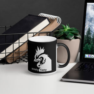 The Wildly Tasty Coffee Black Magic Mug- (Pour your hot beverage in to reveal the WTC Chicken Icon)