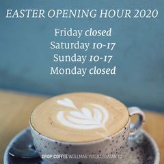 Easter opening hours Drop Coffee
