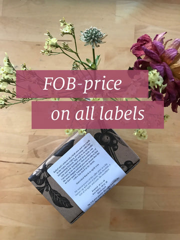 FOB-price on labels