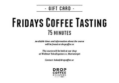 Fridays Cupping, 75 minutes - Free!