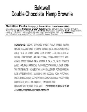 Double Bliss Hemp Brownies by Bāktwell