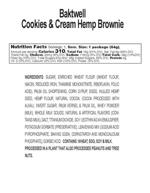 Cookies & Cream Hemp Brownies by Bāktwell