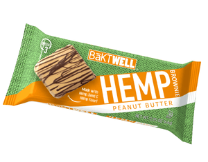 Peanut Butter Hemp Brownie - Bāktwell Hemp