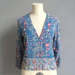1940's Embroidered Silk Blouse