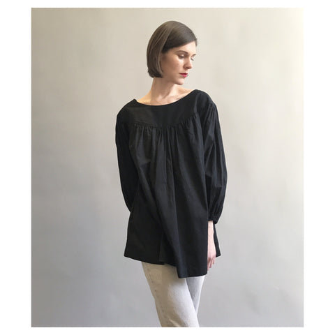 Yves Saint Laurent Black Smock Top